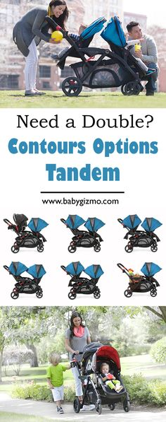 Looking for a double stroller? Check out the great Contours Options Tandem Stroller! Total versatility for your crazy parenting life. :) #babygizmo #baby #stroller
