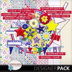 #FREE #digital #scrapbook kit Star Student, limited time only (NSD weekend) #craft #digiscrap