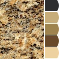Granite Countertop Instantly turn any picture into a palette with ColorSnap, created for you by Sherwin-Williams. Granite Paint, Brown Granite Countertops, Outdoor Kitchen Countertops, Granite Colors, Granite Kitchen, Kitchen Counters, Kitchen Color Palettes, Kitchen Paint Colors, Painting Kitchen Cabinets