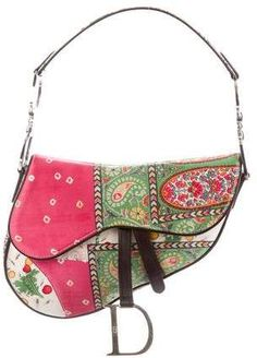 a709c36a Christian Dior Leather-Trimmed Saddle Bag Dior Saddle Bag, Saddle Bags,  Beautiful Handbags