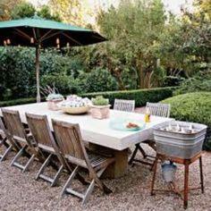 Grassless backyard inspiration.