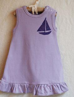 Toddler Dress, Little Sailboat