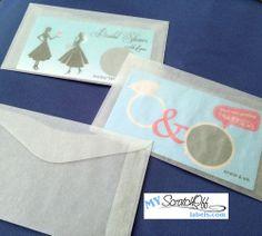 250 Wedding Favors Lottery Ticket Glassine Envelopes