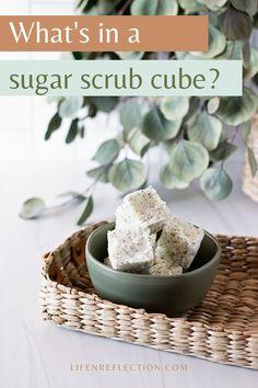 What's in a sugar scrub cube? Sugar Scrub Cubes, Sugar Scrub Recipe, Sugar Scrub Diy, Poppy Seed Recipes, Diy Exfoliating Face Scrub, Deli News, Cube Recipe, Crafts To Make, Diy Crafts