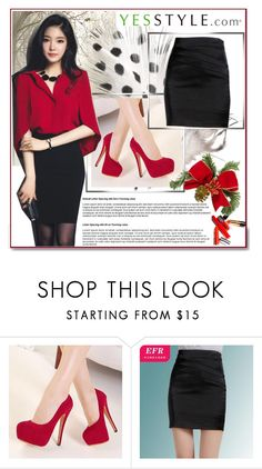 """""""YesStyle - Annual Sale - 2"""" by vicky-1314 ❤ liked on Polyvore featuring White Label, Fashion Street, Eferu, Christmas, yesstyle and winteressentials"""