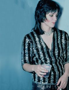 Joan Jett backstage at CBGB in New York City on August 2, 1976.