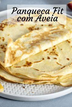 8 Fit Pancake Recipes - Receitas fáceis, saborosas e saudáveis - comida saudável - Low Carp, Low Carb Recipes, Cooking Recipes, Pancake Recipes, Healthy Recepies, Tasty, Yummy Food, Fish Dishes, I Love Food