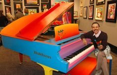 Artist Peter Max Unveils One-of-a-Kind Piano To Be Auctioned in Las Vegas Baldwin Piano, Peter Max Art, Las Vegas Shopping, Painted Pianos, Peter Beard, Thelonious Monk, Psychedelic Music, American Artists, Original Art