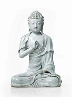 An exceptional Song figure of Guanyin to be offered in the Asian Art sale Christie's Paris, december 14 - Alain. Victoria And Albert Museum, Gyan Mudra, Buddha, Art Ancien, Chinese Ceramics, Guanyin, China, Fine Porcelain, Chinese Art