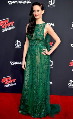 Eva Green from The Best of the Red Carpet  Color us green with envy, because Eva's emerald Elie Saab Couture gown is flawless.