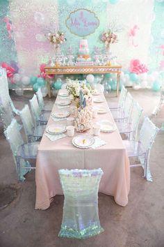 Head Dining Table from a Mermaid Oasis Themed Birthday Party via Kara's Party Ideas | KarasPartyIdeas.com (33)