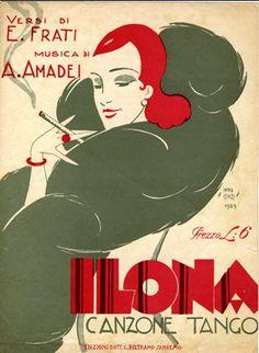 Cover Sheet Music by Carlo InnoCenzi (1899-1962), 1929, Ilona. (I)