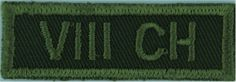 VIII CH Canadian Hussars) Green On Olive Embroidered Non-British Army shoulder title British Army, Commonwealth, Armed Forces, Shoulder, Empire, Military, Green, Patches, Special Forces