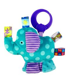 Take a look at this Blue Elephant Friend for Me Clip-On Plush Toy by Taggies on #zulily today!