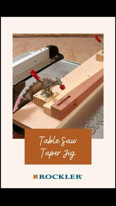 Woodworking Jigs, Woodworking Projects, Taper Jig, Diy Furniture Renovation, Build Something, Table Saw, Diy Wood Projects, Diy Tools, Craft Items