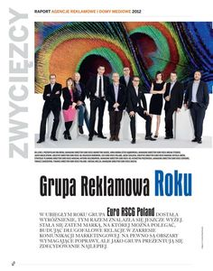Our Euro RSCG Poland team just was named Polska's Marketing and Media's 'Advertising Group of the Year'