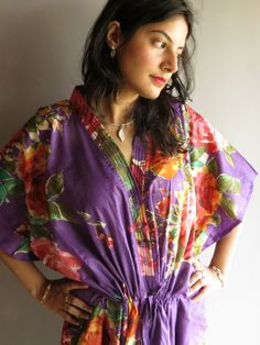 Cozy Kaftan Style made From D7 Fabric Pattern