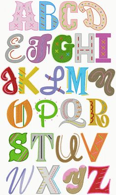 """Epic Alphabet, each capital approx. 3"""" tall, .17 for all"""