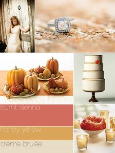 fall wedding colour palette