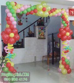 Cổng chào sự kiện trang trí sinh nhật cho bé CB134 có thiết kế khoảng 2m, sản phẩm được sử dụng rất nhiều loại bong bóng màu sắc khác nhau để làm tăng tính nổi bật cho sản phẩm. Sản phẩm được sử dụng như cổng chào, vật trang trí sự kiện xung quanh, trang trí sân khấu,... ----------------------- Hotline: 090.908.4174 Email: quocthai253@gmail.com