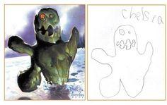 Concept original l'artiste s'est amusé à prendre des dessins d'enfants, et disons à les améliorer. www.themonsterengine.com