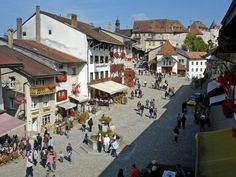 Gruyères, Switzerland - the quaint Alpine town where I ate the best fondue of my life...straight from the source.