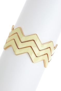 Zigzag Enamel Bangle Set by On Trend: Layers & Stacks on @HauteLook