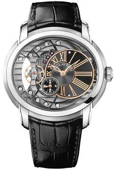 Audemars Piguet Millenary Automatic Skeleton Dial Mens Watch Quality Watches on SALE ! Fine Watches, Cool Watches, Watches For Men, Men's Watches, Wrist Watches, Dream Watches, Cartier, Patek Philippe, Devon