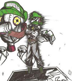 Mystery Man in Green by RyouKazehara Mario And Luigi Games, Super Mario And Luigi, Super Mario Art, Mario Bros, Green Warriors, Luigi And Daisy, Nintendo Pokemon, Paper Mario, Foo Fighters