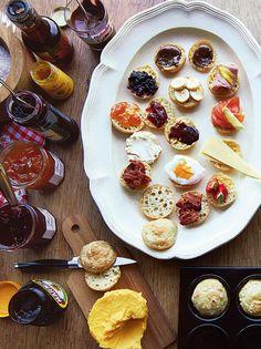 Jamie Oliver's Breakfast 'crumpies', half crumpet, half Yorkshire pudding.