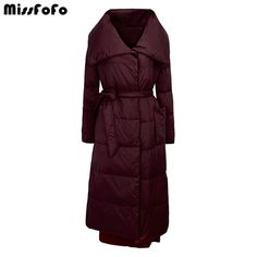 Cheap coat brand, Buy Quality coat down directly from China coat long Suppliers: MissFoFo Brand 2016 Winter Down Jackets Woolen slim down patchwork over-the-knee women's down coat long design Coats For Women, Jackets For Women, Clothes For Women, Cheap Coats, Duck Down Jacket, Long Winter Coats, White Ducks, Down Coat, How To Slim Down