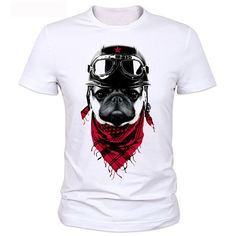 Cool New T Shirts Men The Adventure Dog Top Tees Pug Life O Neck Camisetas Polyester Short Sleeve Cool Summer Tops