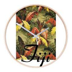 Fiji Jungle Wooden Wall Clock> Fiji Jungle> FijiShop
