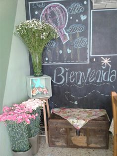 Flores - telas - decoracion