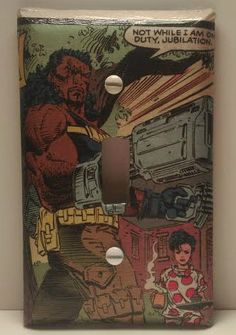 Bishop and Jubilee Light Switch Cover, Comic Books, X-Men, Marvel Comics, Handmade by ComicBookCreations01 on Etsy
