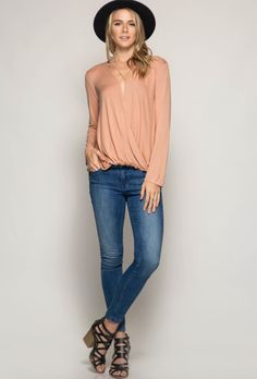 Surplice Criss-Cross Top
