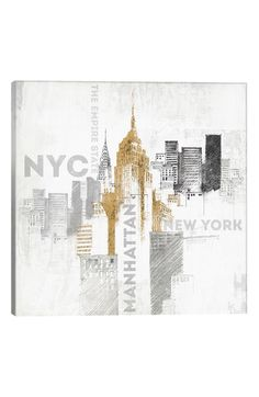 Main Image - iCanvas 'Empire State' Giclée Print Canvas Art