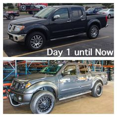 Before and after Nissan Frontier
