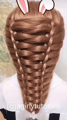 Hairstyle Tutorial # simple Braids with weave Hairstyle Tutorial Easy Hairstyles For Long Hair, Braids For Long Hair, Cute Hairstyles, Wedding Hairstyles, Braids For Girls, Hairstyle For Girls Video, Hairstyles Videos, Fashion Hairstyles, Hairstyle Tutorials