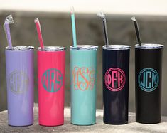 Skinny Steel Monogram Cup - Personalized Tumbler - Christmas Gift - Christmas Gift Ideas - Employee Gifts - Secret Santa - White Elephant