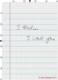 Sew Stitchy: Freebie: I Think I Love You...