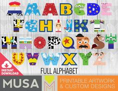 Fête Toy Story, Toy Story Room, Toy Story Party, Toy Story Birthday, 2nd Birthday, Disney Letters, Disney Alphabet, Toy Story Nursery, Alfabeto Disney