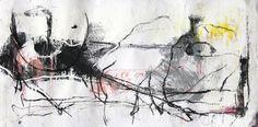 Estudo para composição abstrata. Monotipia guache, carvão, grafite e óleo sobre papel offset 120g. 23,5x45,5cm. 2016. #arte #art #monotipia #monotype #guache #carvao #gouache #charcoal #abstrato #abstract #art #print #expressionismo #expressionism #oleo #oil #grafite #graphite