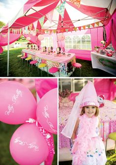 pink shabby chic princess party