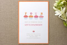 Cupcake Children's Birthday Party by pottsdesign at minted.com