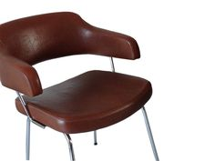 Midcentury Retro Brown Leather Chairs | eBay