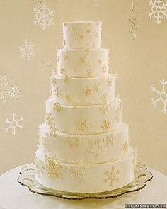 Snowflake cake #ido #inspiration #white #wedding #winter