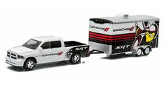 Trucks - GREENLIGHT - 32030D - 2014 Ram 1500 with Enclosed Car Hauler Trailer - H