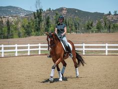 Leg Yield for Relaxed Transitions. America's top Young Rider shows you how to improve your horse with these exercises.