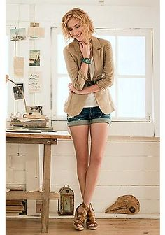 Love this blazer...and the watch... and the shoes...the belt...and all the random decor in the background!